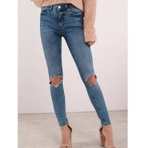 Free People | high-rise busted skinny jeans NWT